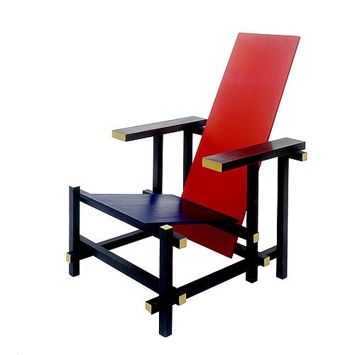 Gerrit Rietveld chair, red yellow blue