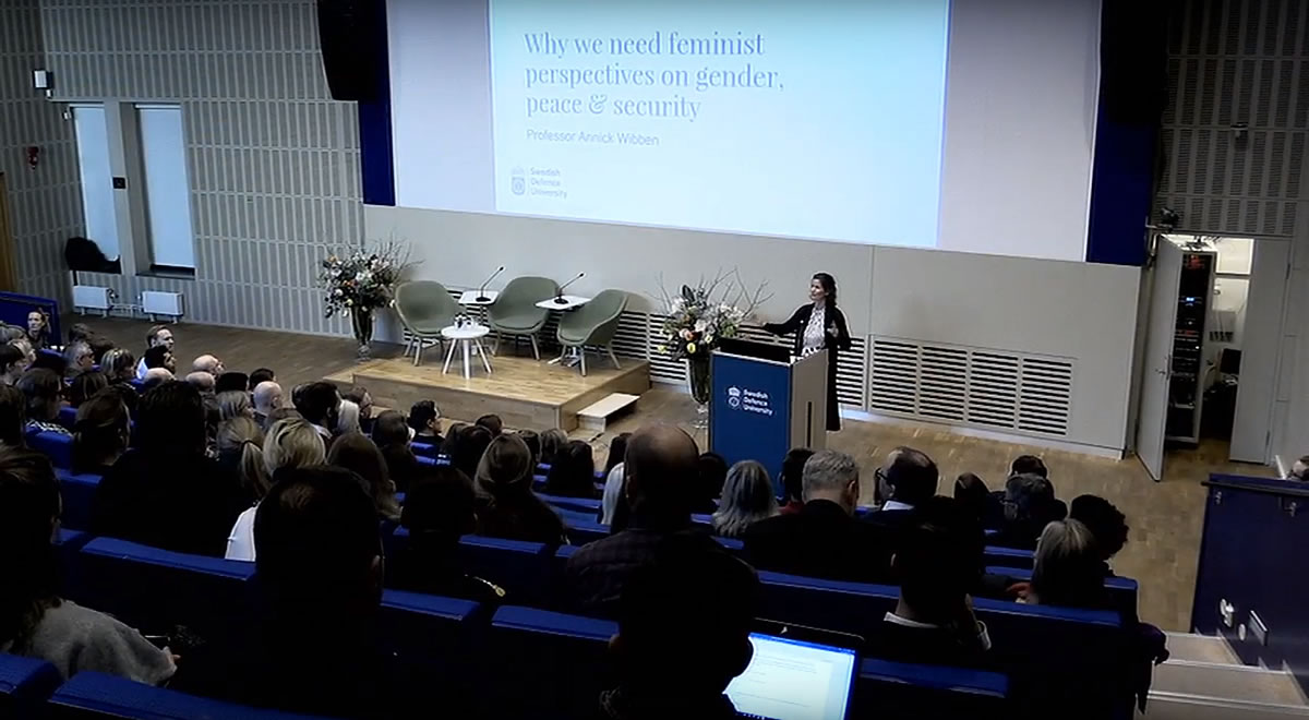 Inaugural Lecture: Annick Wibben - Anna Lindh Professor of Gender, Peace and Security