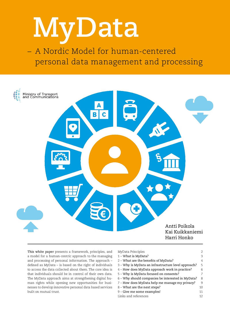 MyData A Nordic Model for human-centered personal data management and processing