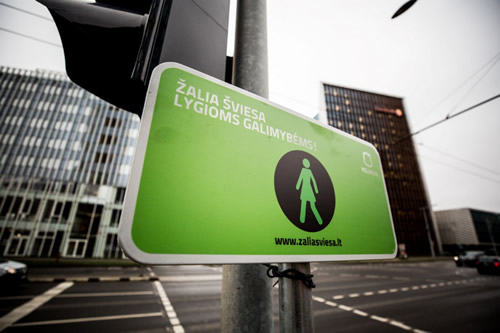 Vilnius Installs Female Pedestrian Lights to Mark the Centenary of Women's Suffrage in Lithuania