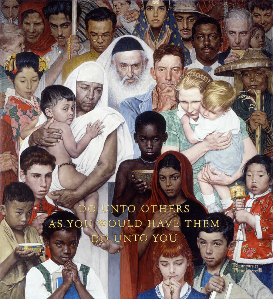 Norman Rockwell's Golden Rule